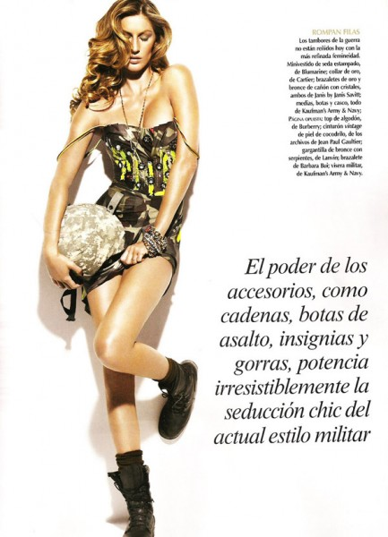 Gisele Bundchen by Nino Muñoz for <em>Vogue Mexico</em> May 2010