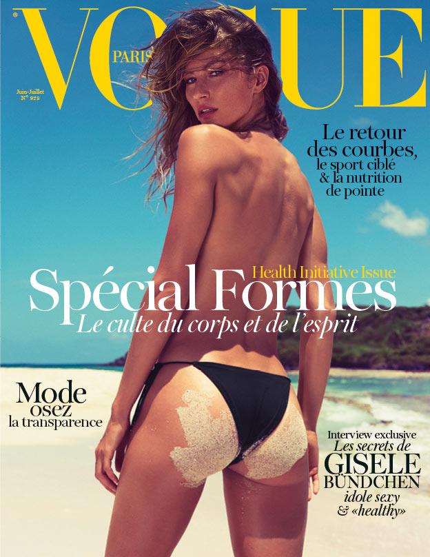 Gisele Bundchen Covers Vogue Paris June/July 2012