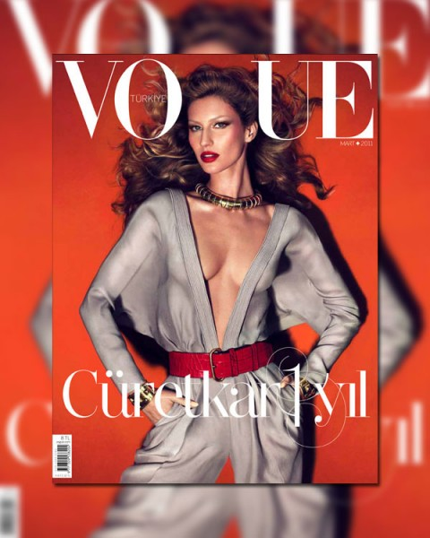 <em>Vogue Turkey</em> March 2011 Cover | Gisele Bundchen by Mert & Marcus