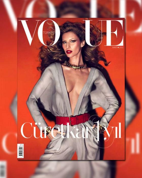 Vogue Turkey March 2011 Cover | Gisele Bundchen by Mert & Marcus