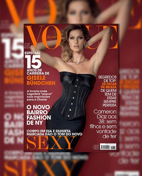 <em>Vogue Brazil</em> October 2010 Cover | Gisele Bundchen by Jacques Dequeker