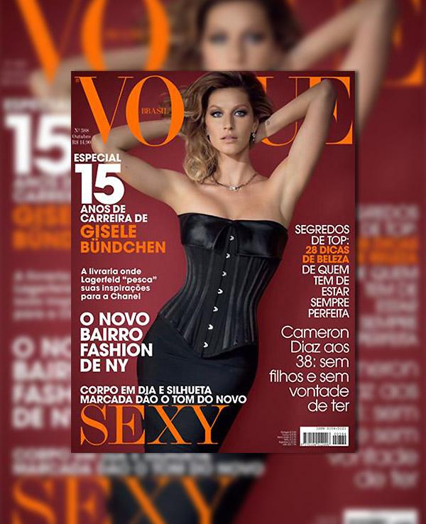 Vogue Brazil October 2010 Cover | Gisele Bundchen by Jacques Dequeker