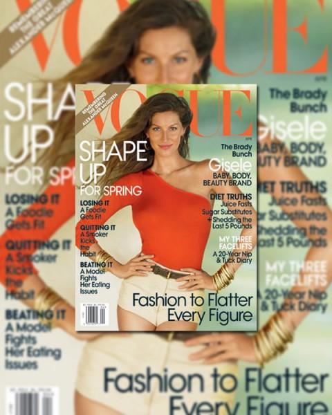 Vogue US April 2010 Cover | Gisele Bundchen by Patrick Demarchelier