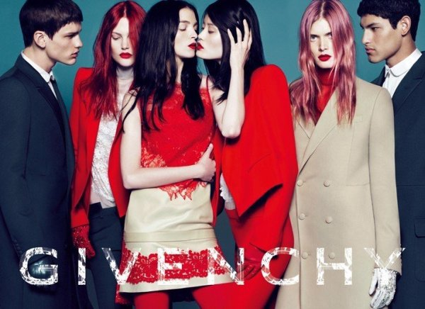Givenchy Fall 2010 Campaign | Mariacarla Boscono, Malgosia Bela, Catherine McNeil & Lea T. by Mert & Marcus