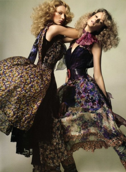 Sigrid Agren & Patricia van der Vilet by Glen Luchford in Just the Two of Us | <em>Vogue Nippon</em> June 2010