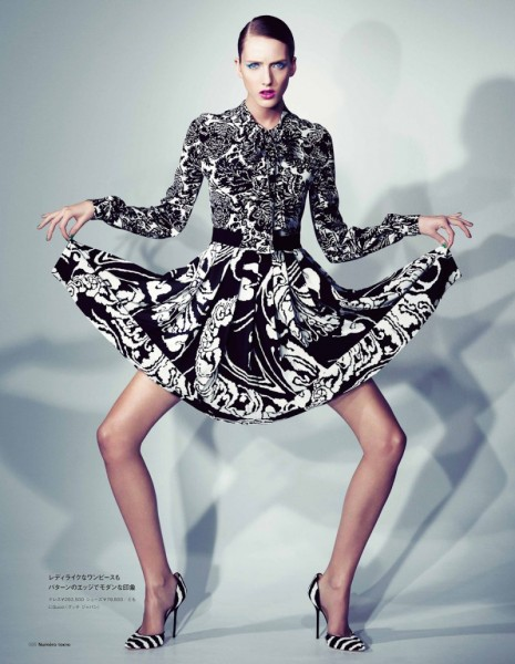 Iris Egbers in Gucci by Denise Boomkens Numéro Tokyo January/February 2012