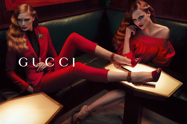 Karmen Pedaru & Nadja Bender Get Sultry for Gucci's Pre-Fall 2012 Campaign by Mert & Marcus