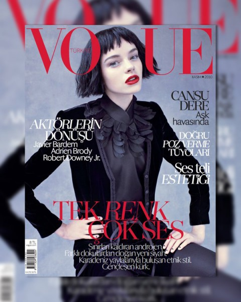 Vogue Turkey November 2010 Cover | Gwen Loos by Mariano Vivanco
