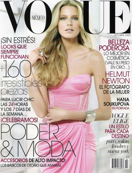 Vogue Mexico October 2009 – Hana Soukupova by Sarah Silver