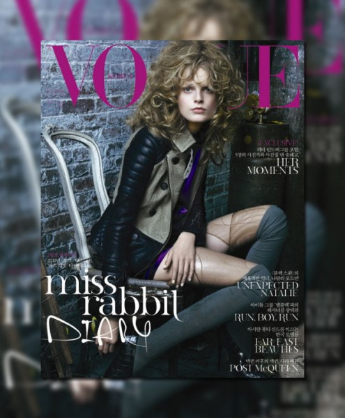 <em>Vogue Korea</em> February 2011 Cover | Hanne Gaby Odiele by Tesh