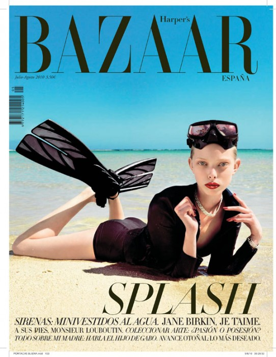 Harper's Bazaar Spain July/August 2010 Cover | Tanya Dziahileva by Nico
