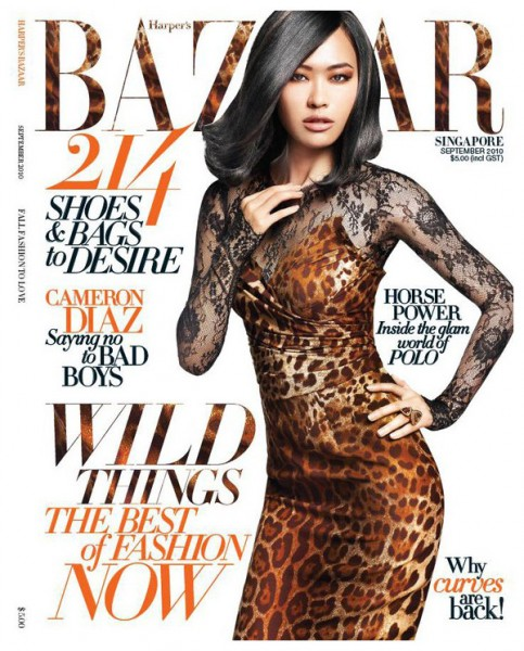 <em>Harper&#8217;s Bazaar Singapore</em> September 2010 Cover | Jing by Simon Upton