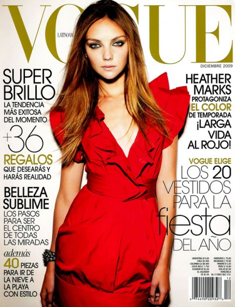 Vogue México December 2009 Cover | Heather Marks by Cliff Watts