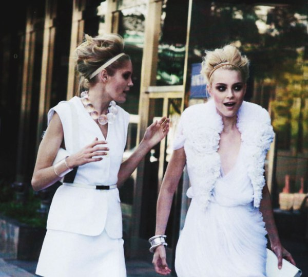 Jessica Stam & Heidi Mount by Peter Lindbergh | <em>Harper's Bazaar US</em> April 2010