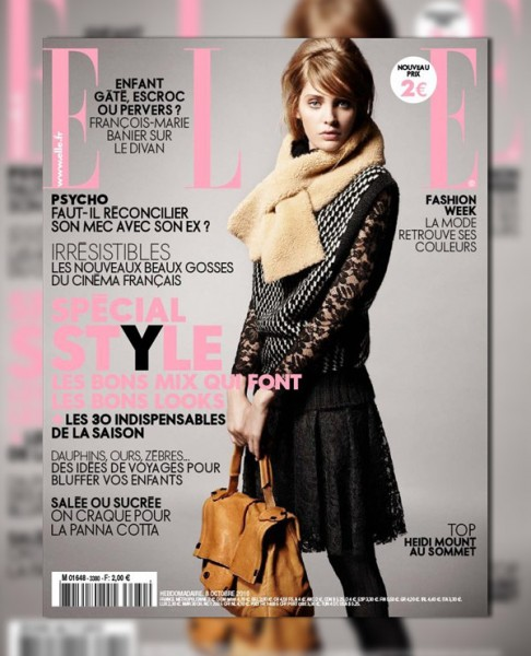 <em>Elle France</em> October 8, 2010 Cover | Heidi Mount