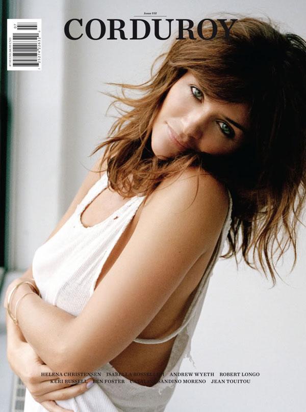 Corduroy Spring/Summer 2010 Cover   Helena Christensen