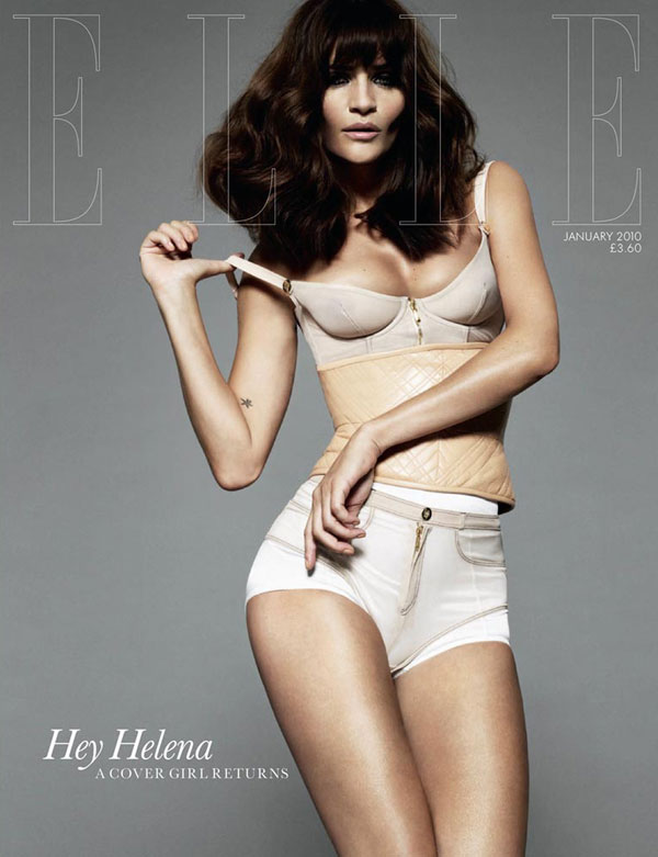 Cover | Helena Christensen by Jan Welters for Elle UK January