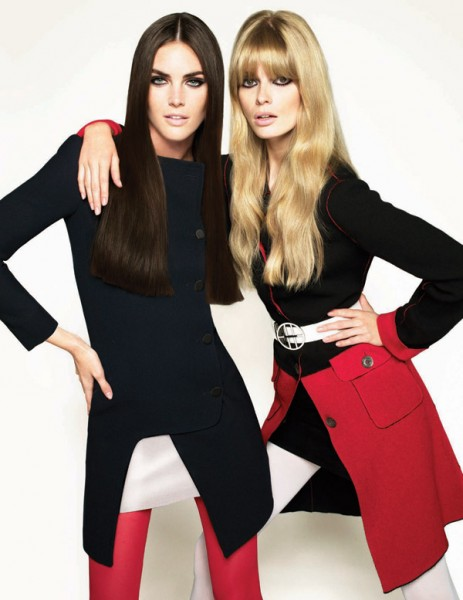 Hilary Rhoda & Julia Stegner for <em>Vogue Turkey</em> October 2010 by Cuneyt Akeroglu