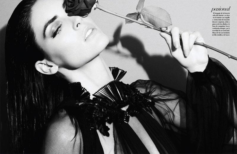 Hilary Rhoda Dons Fall Looks for Vogue Latin America's October Cover Story by Nagi Sakai