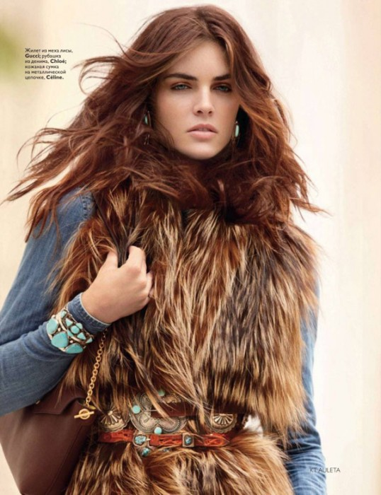 Hilary Rhoda for Vogue Russia November 2010 by KT Auleta