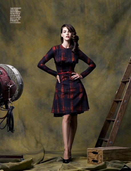 Hilary Rhoda by Ryan Yoon for <em>Elle Korea</em> October 2010