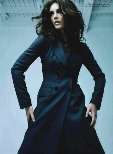 Hilary Rhoda for <em>Elle Canada</em> October 2010 by Leda & St. Jacques