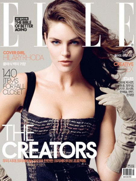 Elle Korea October 2010 Cover | Hilary Rhoda by Ryan Yoon