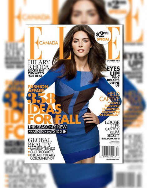 <em>Elle Canada</em> October 2010 Cover | Hilary Rhoda