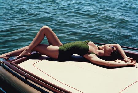 Hilary Rhoda Wearing Eres for WSJ Magazine