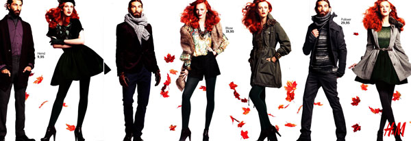 Karen Elson and Patrick Petitjean for H&M