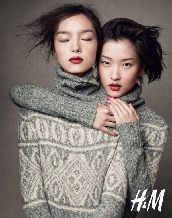 H&M Holiday 2010 Campaign | Du Juan & Fei Fei Sun