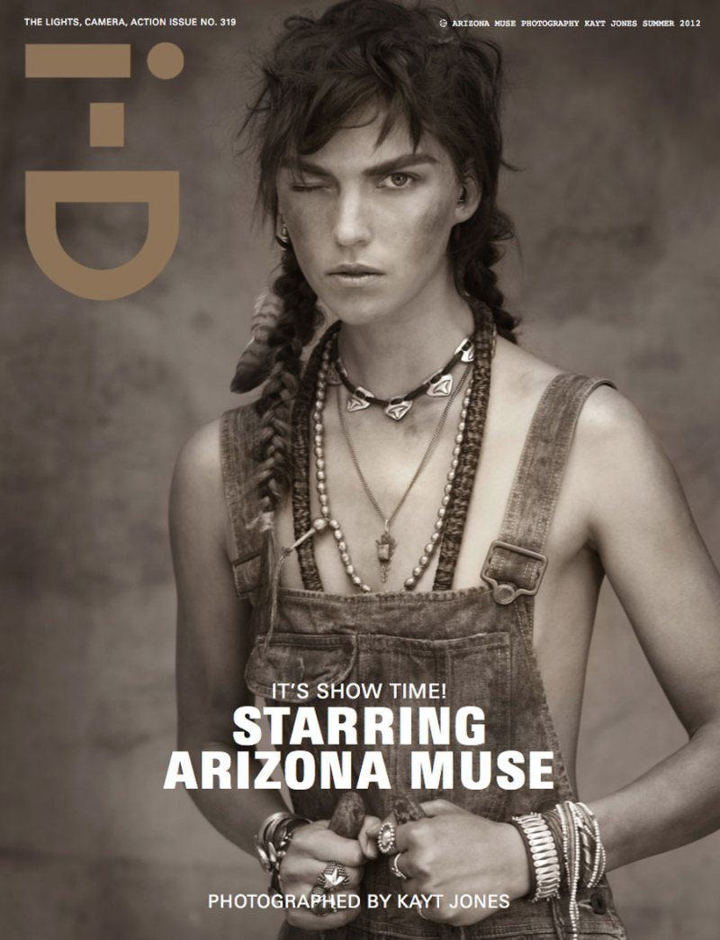 Raf Simons, Arizona Muse & Julia Restoin Roitfeld Cover i-D Summer 2012