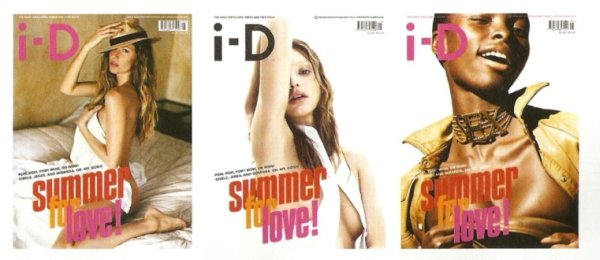 i-D Summer 2010 Covers | Gisele, Miranda & Jeneil by Matt Jones, Willy Vanderperre & Daniel Jackson