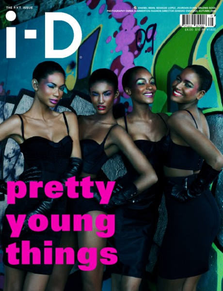 i-D September 2009 – Chanel, Sessilee, Jourdan & Arlenis by Emma Summerton