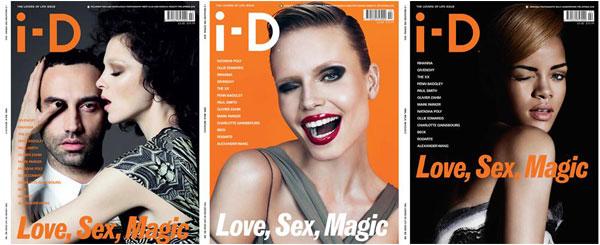 i-D Pre-Spring 2010 Covers | Mariacarla Boscono, Riccardo Tisci, Natasha Poly & Rihanna