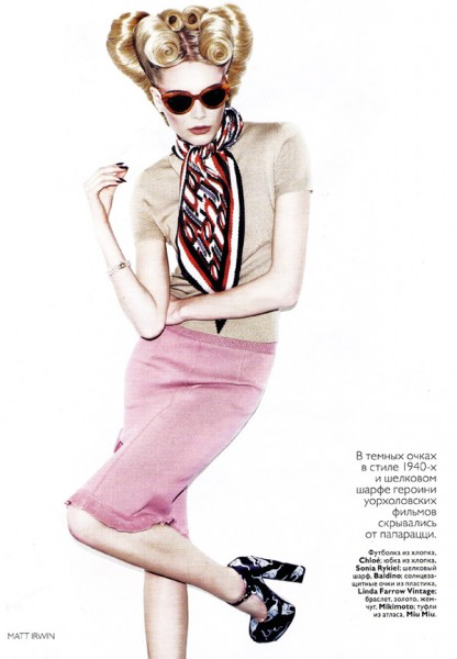 Ieva Laguna by Matt Irwin | <em>Vogue Russia</em> May 2010