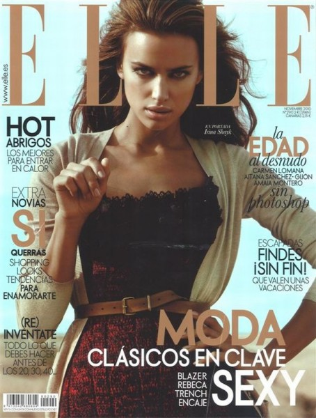 <em>Elle Spain</em> November 2010 Cover | Irina Shayk by Santiago Esteban