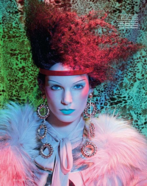 Iris Strubegger by François Nars for Vogue Russia January 2011