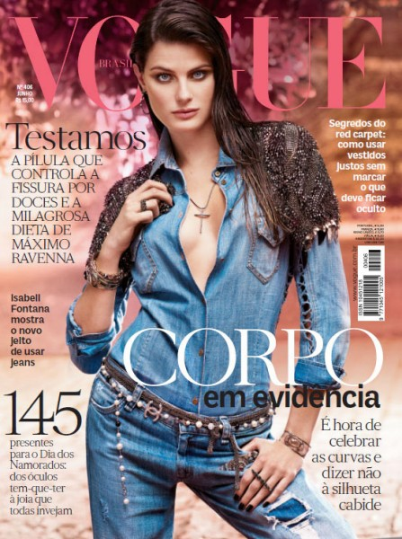Isabeli Fontana is Denim Casual for Vogue Brazil's June 2012 Cover