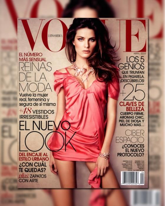 Vogue Mexico April 2010 Cover   Isabeli Fontana by Jacques Dequeker