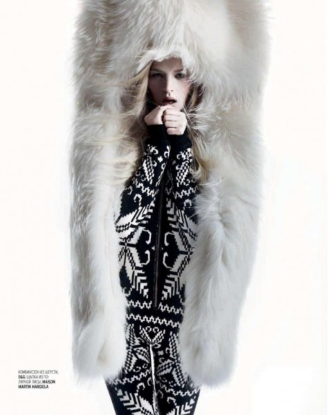 Iza Olak by Alan Gelati for <em>Marie Claire Russia</em> January 2011
