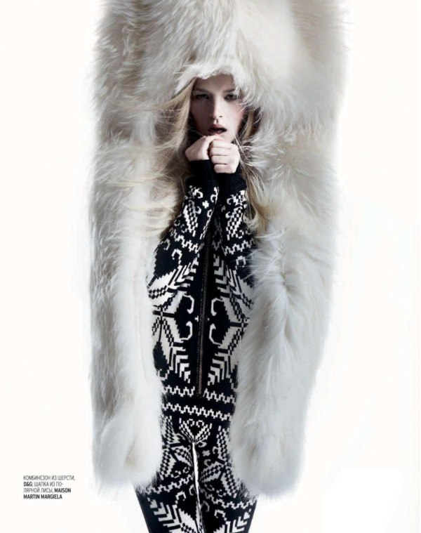 Iza Olak by Alan Gelati for Marie Claire Russia January 2011