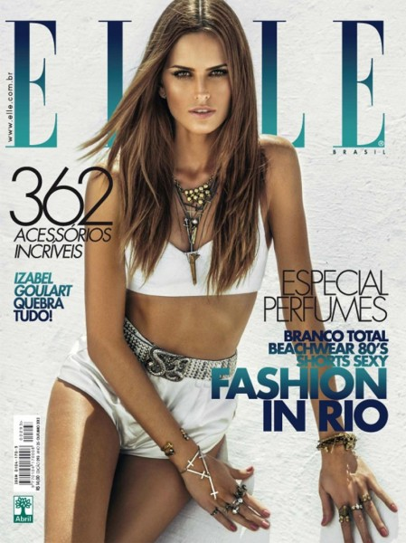 A White Hot Izabel Goulart Covers Elle Brazil October 2012