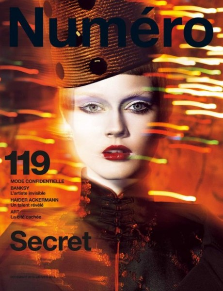 <em>Numéro</em> #119 December 2010 / January 2011 Cover | Jac Jagaciak by Greg Kadel