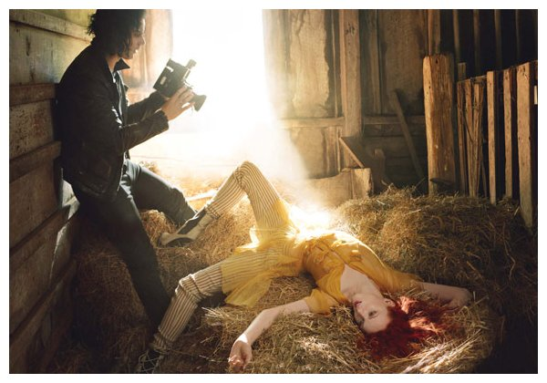 Karen Elson & Jack White for <em>Vogue US</em> June 2010 by Annie Leibovitz