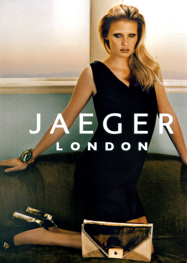 Jaeger London S/S 2010 Campaign Preview | Lara Stone