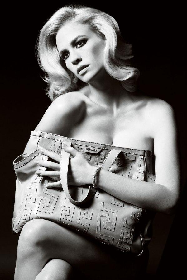Versace Accessories Spring 2011 Campaign | January Jones by Mario Testino