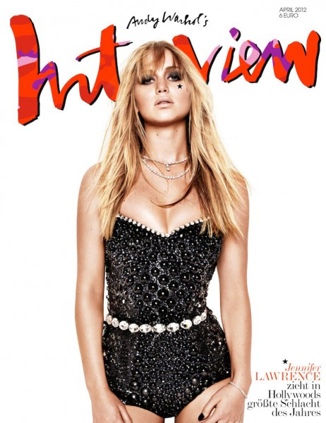 Jennifer Lawrence Covers Interview Germany April 2012 in Dolce & Gabbana