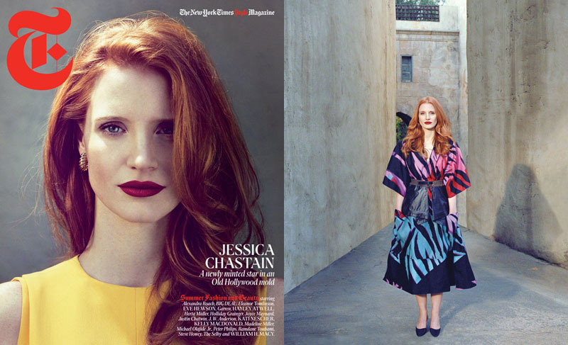 Jessica Chastain by Cass Bird for T Magazine Summer 2012