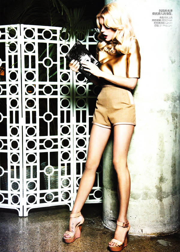 Jessica Stam by Ellen von Unwerth for Vogue China January 2011
